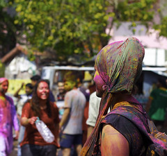 The Seventy Sixth (Monica Willow Photography) Tags: party woman wonderful wonder colorful paint culture holi celebrate