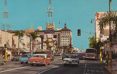 Colorado Street - Pasadena, California (The Cardboard America Archives) Tags: california vintage postcard pasadena streetview coloradostreet