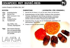 Lavieba_Rezeptkarte_04_Cevapcici mit Djuvec-Reis
