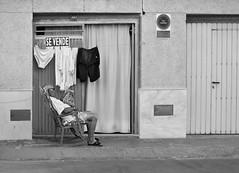 STORIES. For Sale. (matoses) Tags: life street light shadow white man black color art blancoynegro blanco luz valencia grey gris blackwhite calle nikon alone loneliness arte y negro sombra story vida solo soledad cloth stories ropa seor black white for sale blanco negro matoses se d5300 vende