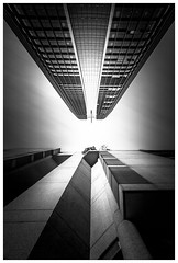 Slim and Fatty (Jaka Pirš Hanžič) Tags: brisbane city queensland qld australia cityscape fine art abstract architecture building buildings skyscraper sky black white bw monochrome day daylight perspective lee little nd filter 6 10 16 stopper