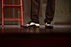 Le theatre (ZieZoFoto.com Back on Wednesday) Tags: nikon d750 theater shoe chair stage light theatre man