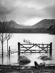 Gateway To Nowhere (TrotterFechan) Tags: derwentwater gate lake trees waterscape landscape mountains clouds