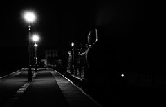 """Waiting...."" Ex-LMS A Class 52322 (Liam60009) Tags: eastlancashirerailway elr night longexposure blackandwhite monochrome glint glinting steamlocomotive steam steamtrain diningwithdistinction diningtrain diner aclass 12322 52322 br exlms lms londonmidlandandscottish rawtenstall station"