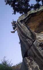 DSC04104 (chicago_tarot) Tags: feet foot shoe cliff rock stone ledge edge garden