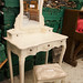 €120 Ornate French style bedroom dressing table with mirror and stool