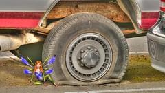 Flat (swong95765) Tags: flat tire fairy magic truck repair fix mystical imagination