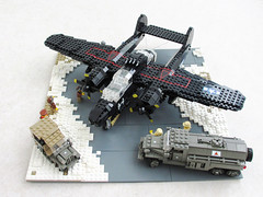 P-61 'Black Widow' diorama (2) (Mad physicist) Tags: fighter lego wwii blackwidow diorama usaaf p61 nightfighter