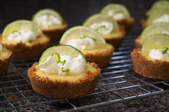 Key Lime Tartlets (Warriorwriter) Tags: cooking pie dessert baking sweet whippedcream sugar chef eggs lime tarts epicurean keylime grahamcrackers tartlet