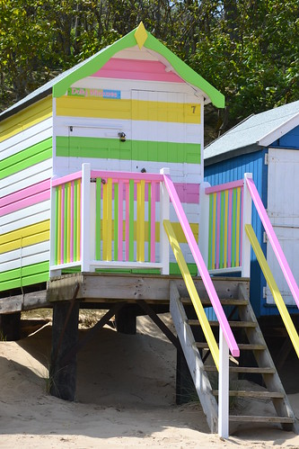 Pretty beach hut