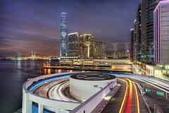 I Heart HK - Swirl (Dan Chui (on/off!)) Tags: china city longexposure bridge urban hk motion cars water glass colors metal architecture modern night clouds speed skyscraper buildings reflections geotagged concrete hongkong lights evening harbor nikon energy asia neon cityscape nightscape traffic dusk vibrant steel citylife busy lighttrails asphalt carpark   kowloon development metropolitan hdr hkg tsimshatsui connection futuristic d800 starbursts   stonecuttersbridge 1424mm iccbuilding