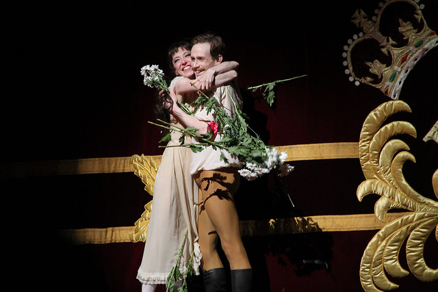 Mara Galeazzi and Edward Watson at the curtain call for Mayerling  © ROH / Ruairi Watson