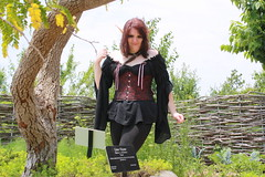 IMG_2029 (KuriTheElf) Tags: cosplay wildlife elf corset redhair lyna blacktights leatherboots