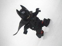 Working on the legs. (1upLego) Tags: pose lego bend batman creator custom