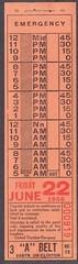 United Traction  Co. Bus Transfer  1956  albany ny 1950s (albany group archive) Tags: ny bus united traction company 1950s albany 1956 transfer utc