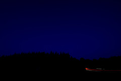 Minimal (Mark_Kendrick_Photography) Tags: new trees light sky cars car night forest lights trails silhouettes brake