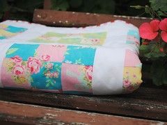 Flower sugar quilt (Dapple and Grey) Tags: baby flower doll quilt 9 sugar fabric quilting crib patch cot 9patch flowersugar