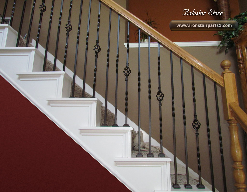 Iron Stair Spindles (IRON STAIR ACCESSORIES) Tags: Wood Building Home Stairs  Fence Cherry