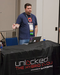 Hart Hoover Presenting at OSCON (Garrett Heath) Tags: cloud oscon hosting unlocked rackspace 2013 racker devops harthoover