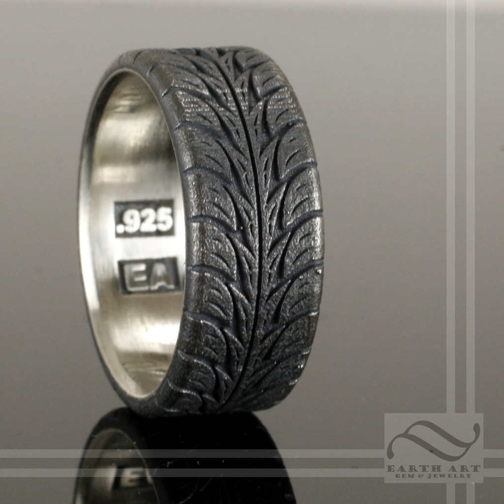 Low Profite Tire Tread Ring Sterling Silver Mooredesign13 Tags Wedding Black Car