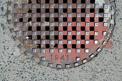 1941 - 03 - July 28, 2013 (collations) Tags: toronto ontario concrete pavement lookdown manholes sewers accesscovers pavementdetails