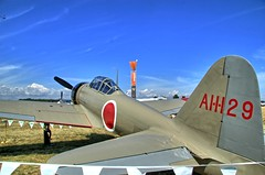 Model 21 A6M2 Zero in HDR (Ray Cunningham) Tags: zero hdr mitsubishi eaa oshkosh