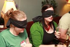 Yelp's Lazy Lounge Blindfolded Wonderland! (Yelp.com) Tags: alice leeds event yelp elite wonderland blindfold krusovice matthewkitchen lazylounge