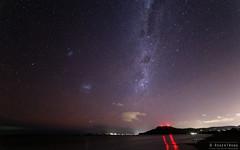 20130810-02-Milky Way and  Mt Rumney navigation lights-Edit.jpg (Roger T Wong) Tags: sky night stars nocturnal australia tasmania hobart 7milebeach astromony canoneos6d samyang14f28 samyang14mmf28ifedumc