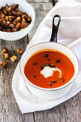 Zuppa di pomodori al forno (Juls1981) Tags: summer tomato soup estate vegetable primo vegetarian pomodoro zuppa vegetariano vegano verdura firstcourse