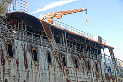 The MS Lord Selkirk II abandoned at the Selkirk slough. - September 2, 2013 (manitobaphotos.com) Tags: abandoned ship manitoba cruiseship redriver selkirk lakewinnipeg lordselkirk