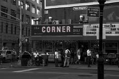 The Corner SoHo (ColeB1) Tags: street nyc newyorkcity blackandwhite bw ny newyork night corner canon lafayette eating manhattan cleveland soho busy tamron lowermanhattan kenmare 60d canon60d tamron18270 clevelanf