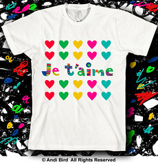 Je t'aime t shirt (birdarts) Tags: cute love shirt print hearts french t day hand you sweet anniversary shirts fabric amour valentines lettering drawn fonts je taime