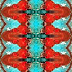 Color Chant - Red and Aqua Pattern Art By Sharon Cummings (BuyAbstractArtPaintingsSharonCummings) Tags: red abstract coral modern painting mirror energy aqua pattern symbol spirit teal unique patterns buddhist indian air arts monk buddhism wallart kaleidoscope tribal symmetry divine canvas nativeamerican health monks sacred prints symmetrical fractal mystical meditation mirrorimage spiritual hindu healing eco wicca aura mystic hindi divinity celestial symbolism shakti heal vibration chant newage walldecor chanting holistic alternativemedicine vibrational healingarts sharoncummings