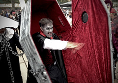 count zombie (Mr.  Mark) Tags: red halloween photo scary blood funny mask vampire zombie stock makeup dracula parade creepy surprise horror coffin torontozombiewalk 2013 markboucher