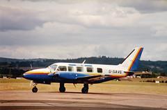 G-SAVE PA31 NAVAJO CHIEFTAN (Ken Lipscombe <> Photography) Tags: airport aviation exeter navajo chieftan pa31 gsave