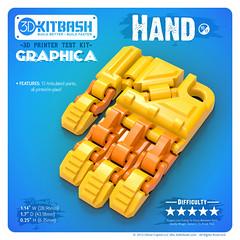 Graphica 10 HAND (3DKitbash.com) Tags: test toy 3d hand finger fingers torture instructions middle 3dprinter fdm kickstarter 3dprinted 3dk printertest torturetest printandplay makerbot printplay 3dkitbash 3dptk printinplace
