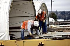 Preparing precast panels (WSDOT) Tags: th wsdot sr520 pontoons wastate bridge construction concrete workers floatingbridge kiewit sr520pontoons cycle4 aberdeen