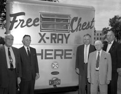 State officials with the Health Department's mobile X-ray unit in Tallahassee, Florida