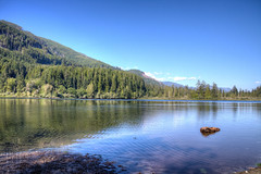 Fairy Lake - Vancouver Island, BC, Canada (Toad Hollow Photography) Tags: blue trees summer sky lake canada mountains water landscape bc hills vancouverisland bonsai vista hdr fairylake portrenfrew