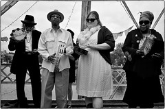Naomi And The Indians, Paul McKay Memorial, New Orleans, LA, November 16, 2013 (Maggie Osterberg) Tags: bw blackwhite louisiana neworleans gr ricoh secondline maggieo paulmckay silverefexpro2 183mmf28