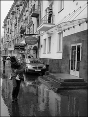 *** (Dmitry VR) Tags: street city people bw woman white man motion black men rain children photography photo women photos russia moscow candid documentary pedestrian pedestrians dmitry ryzhkov dmitryryzhkovcom