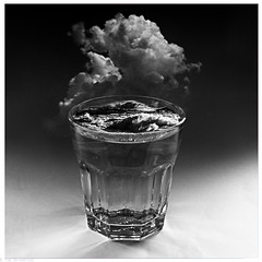 Storm in a glass of water   ( Explored) (TimerTom) Tags: bw storm glassofwater vision:car=0633 vision:outdoor=0725