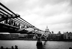Millennium Bridge London (Sandy Sharples) Tags: bridge white black london millennium iphoneography