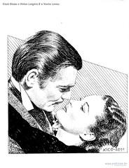 Clark Glabe e Vivian Leighte E o Vento Levou