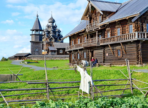 Historical farmhouse, Kizhi Island, Northern Russia