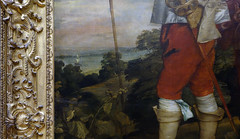van Dyck, Charles I at the Hunt, detail with landscape
