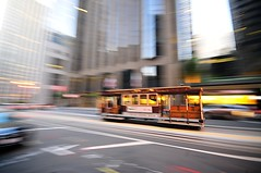 Acele / In a hurry (Atakan Eser) Tags: sanfrancisco city usa day unitedstates action outdoor tram railway marketstreet dsc7506