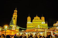 City Hall, Augsburg (mikbahai) Tags: christmas light night bavaria bazaar augsburg