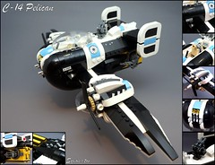 C-14 Pelican (Sylon-tw) Tags: sky plane screw war fighter lego pirates aircraft air wing engine cockpit gear pelican cargo fantasy pirate propeller moc skyfi pilotes dieselpunk dieselpulp sylontw