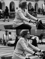 [La Mia Citt][Pedala] (Urca) Tags: portrait blackandwhite bw italia milano bn ciclista biancoenero bicicletta pedalare 2013 dittico 60119 ritrattostradale nikondigitalefilippetta